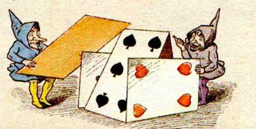 Der Japanese und sein Kind. Und: Die Gnomen und das Kartenhaus.