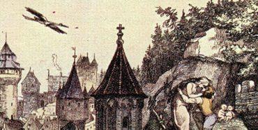 Rapunzel nach Grimm von Otto Speckter 1857.