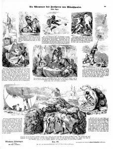 Münchener Bilderbogen Nr. 50: Die Abenteuer des Freiherrn von Münchhausen. Erster Bogen.
