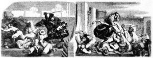Metapanel. Detail. Münchener Bilderbogen Nr. 232: Die Abenteuer des Freiherrn von Münchhausen. Dritter Bogen.