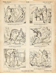 Deutsche Bilderbogen für Jung und Alt Nr. 132: Scenen aus der Ilias I