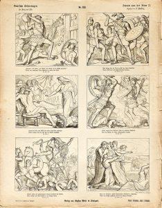 Deutsche Bilderbogen für Jung und Alt Nr. 133: Scenen aus der Ilias II.